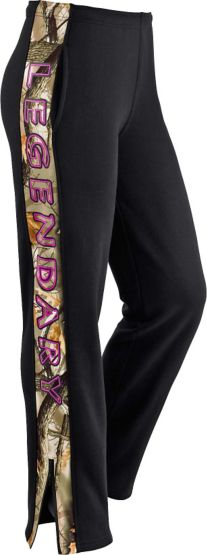 Ladies Team Legendary Camo Trim Sweatpants at Legendary Whitetails