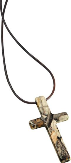 Women's Metal God's Country Camo Cross Necklace at Legendary Whitetails