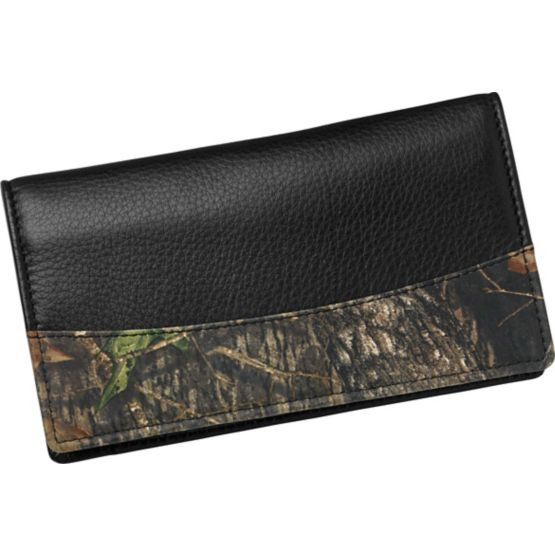 Men's Mossy Oak Leather Camo Checkbook Cover at Legendary Whitetails