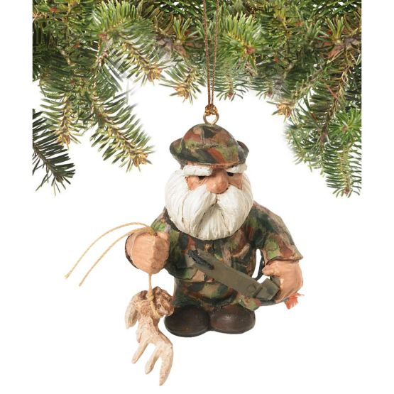 Bowhunter Santa Holiday Hunting Ornament at Legendary Whitetails