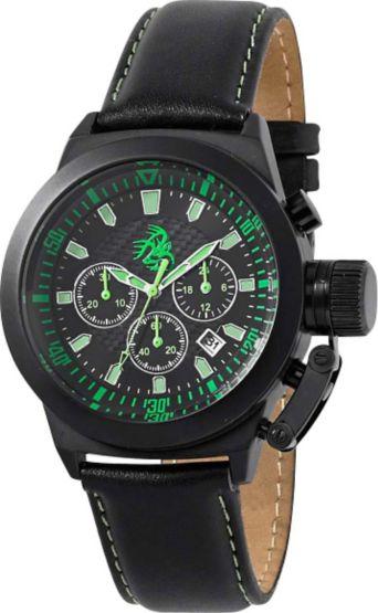 Men's Midnight Navigator Black Leather Watch at Legendary Whitetails