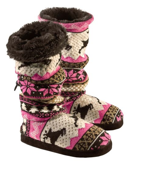 Women's Leaping Deer Nordic Knit Muk Luks at Legendary Whitetails