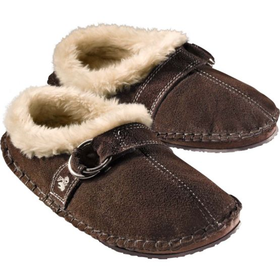 Women's Ultra Suede Brown Slipper at Legendary Whitetails