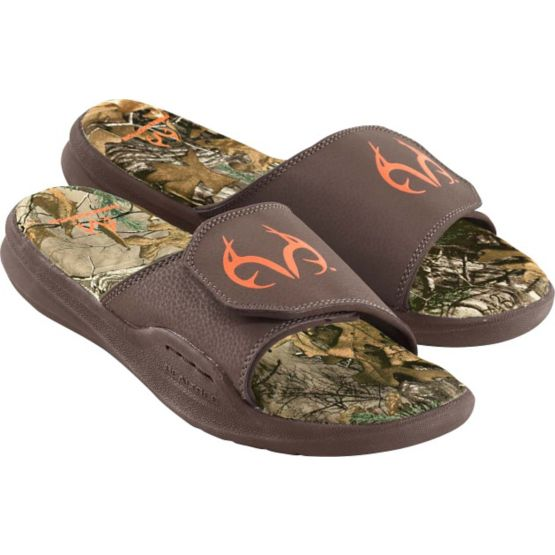 Men's Realtree Camo Back Trail Cushioned Sandals at Legendary Whitetails