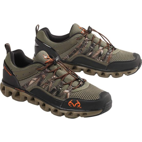 Men's Realtree Camo Shark Drain Channel Shoe at Legendary Whitetails