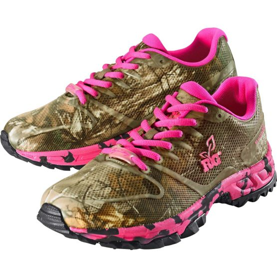 Women's Mamba Ultra Cross Pink Camo Hiking Shoe at Legendary Whitetails