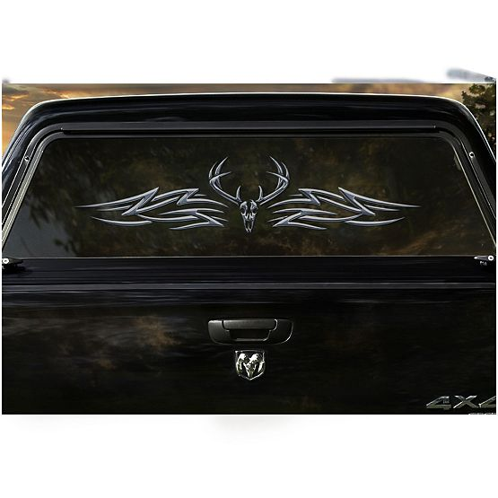 The Outlaw Decal Legendary Whitetails - Truck window decals