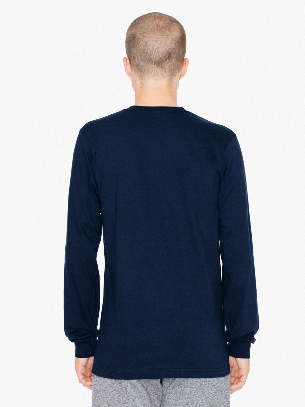 Fine Jersey Crewneck Long Sleeve T-Shirt  fb7c73cef053