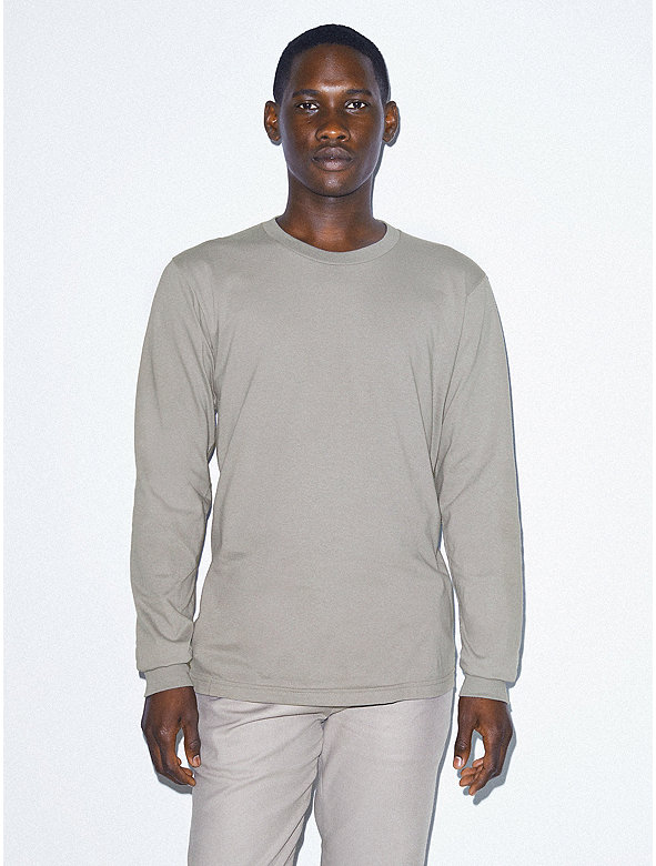 Organic Fine Jersey Crewneck Long Sleeve T-Shirt