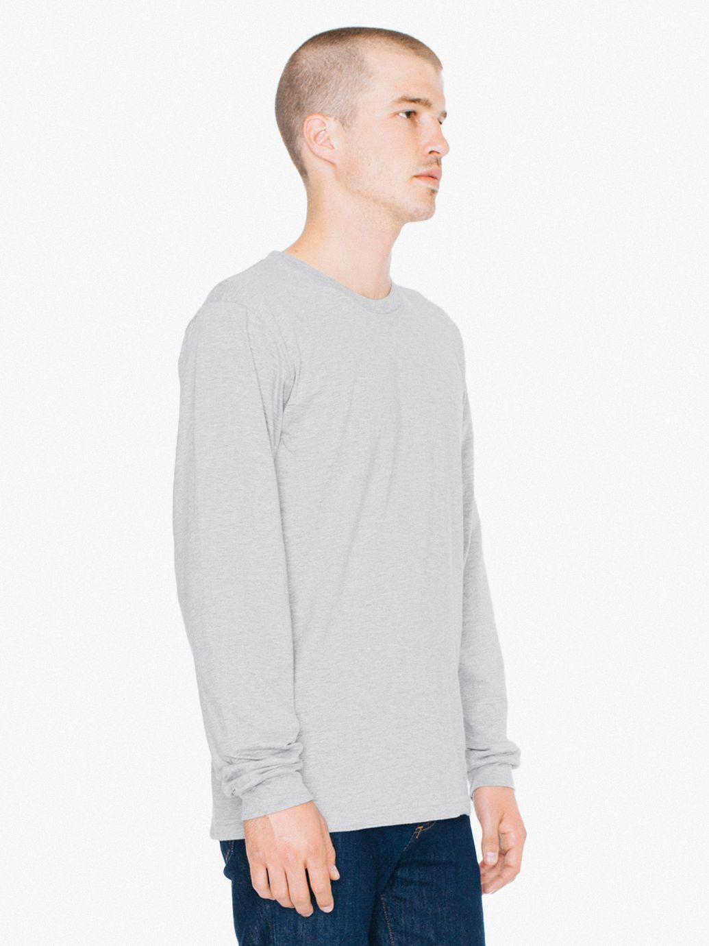 f6df25c999 Fine Jersey Crewneck Long Sleeve T-Shirt