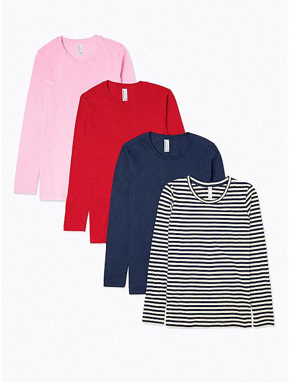 Fine Jersey Classic Crewneck Long Sleeve T-Shirt