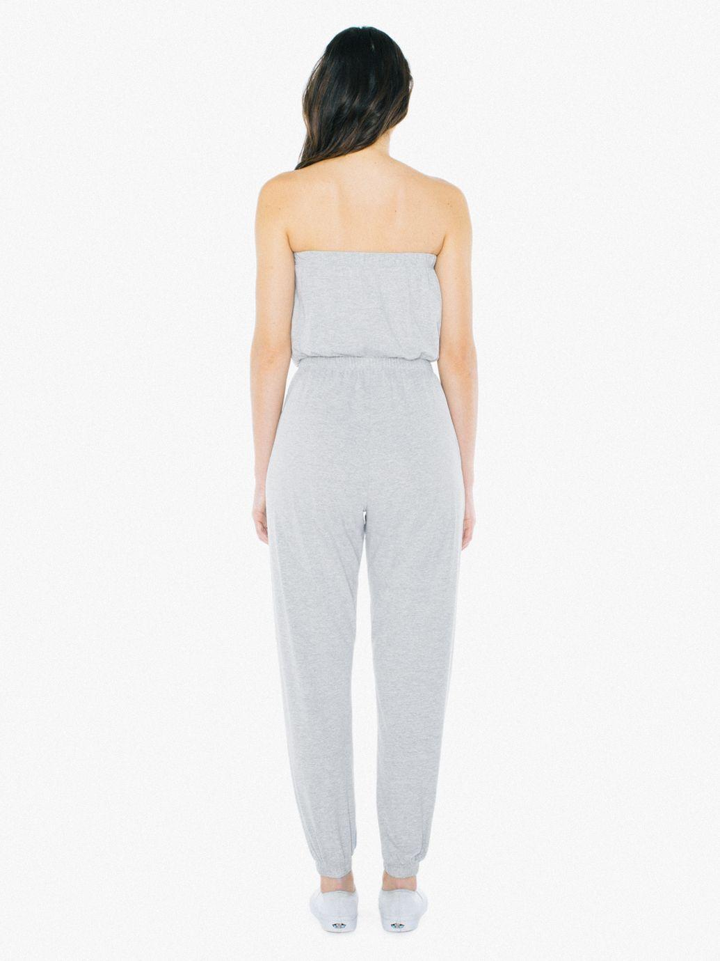 2bda6518022 Fine Jersey Strapless Jumpsuit