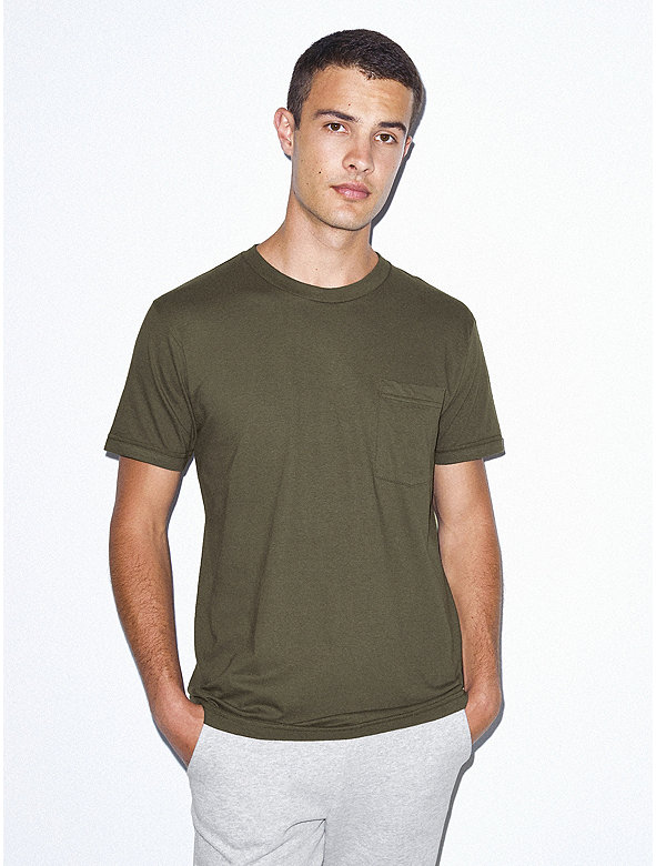 Fine Jersey Crewneck Pocket T-Shirt