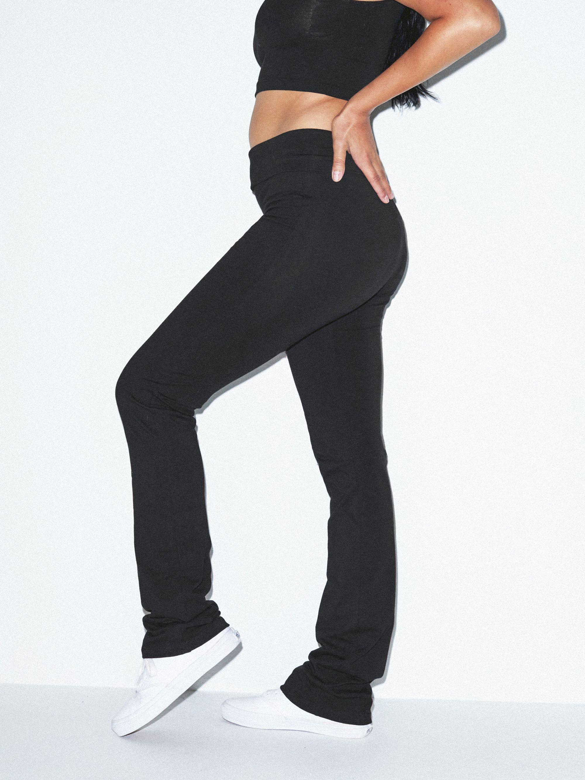644eb457ba Cotton Spandex Jersey Straight Leg Yoga Pant | American Apparel