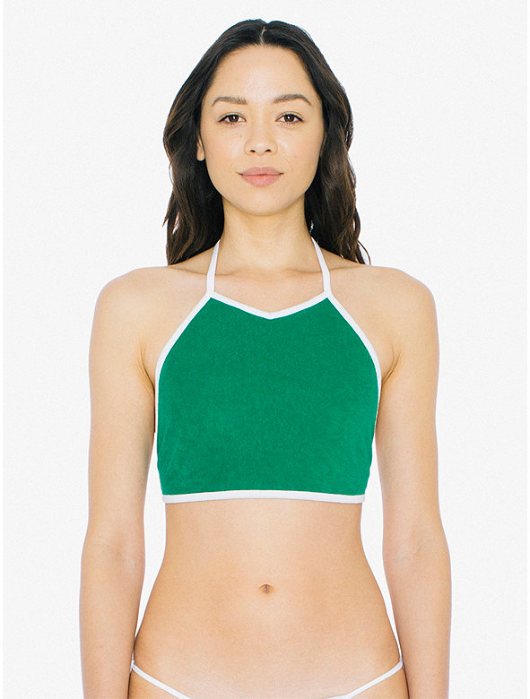 Loop Terry Mid Length Halter Top