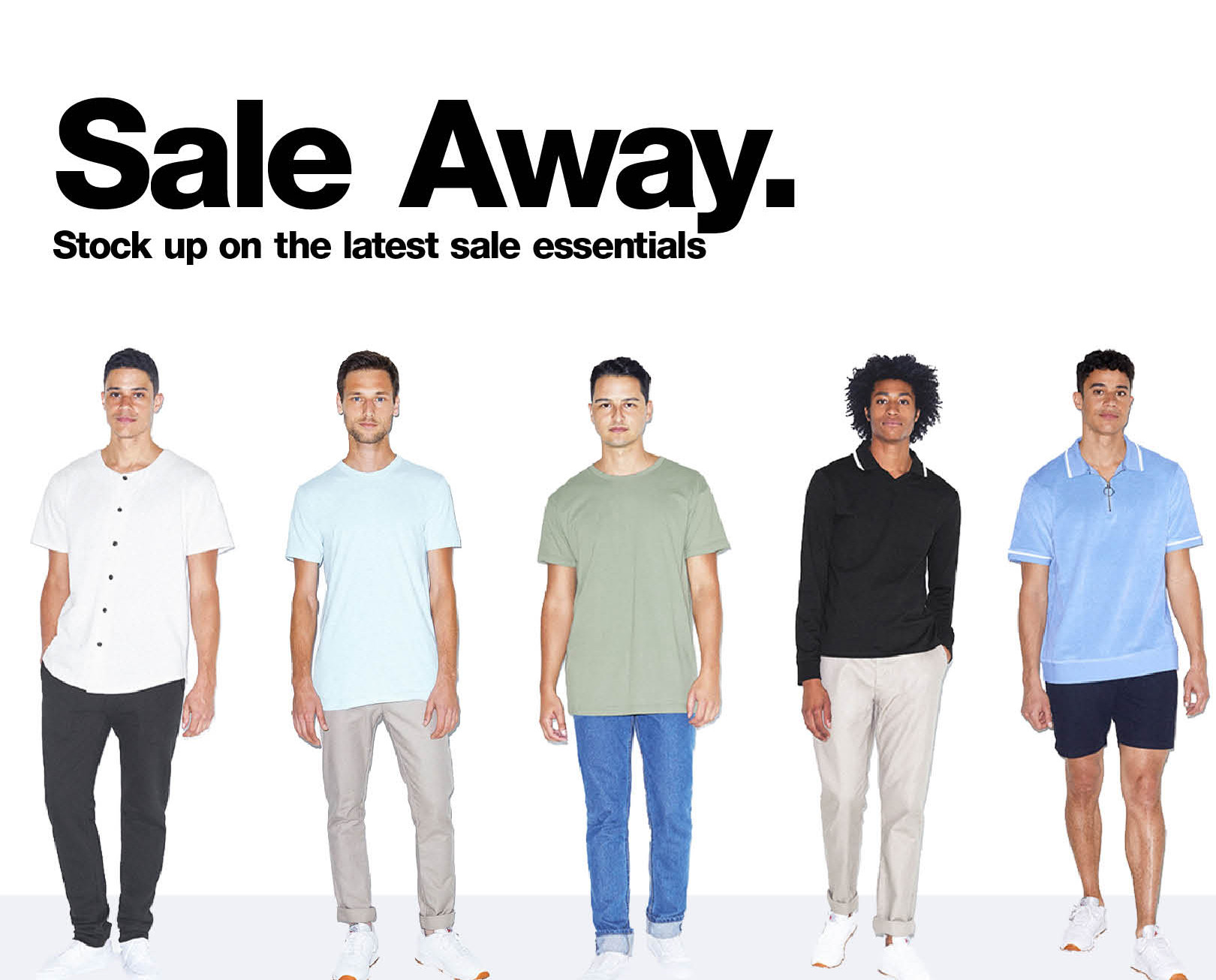 Sale Away. Men