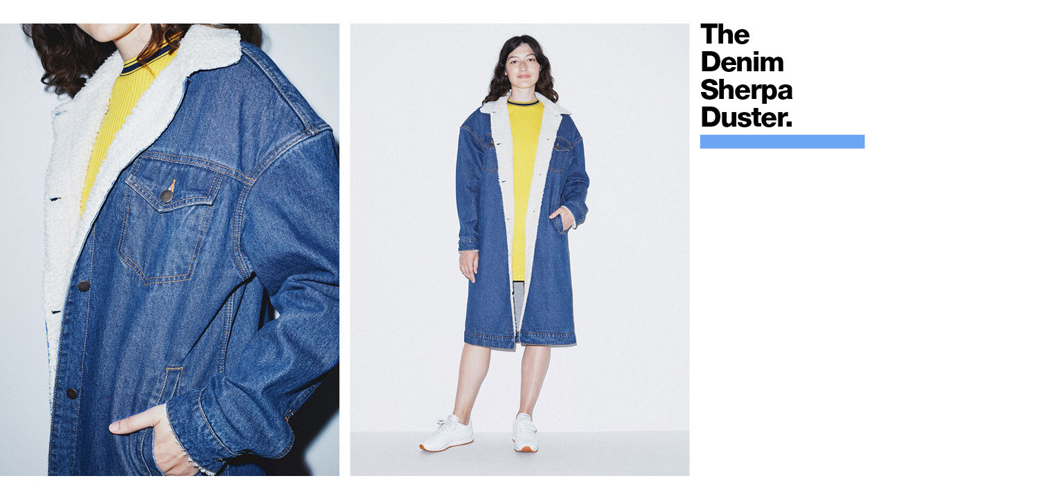 Denim Sherpa Duster