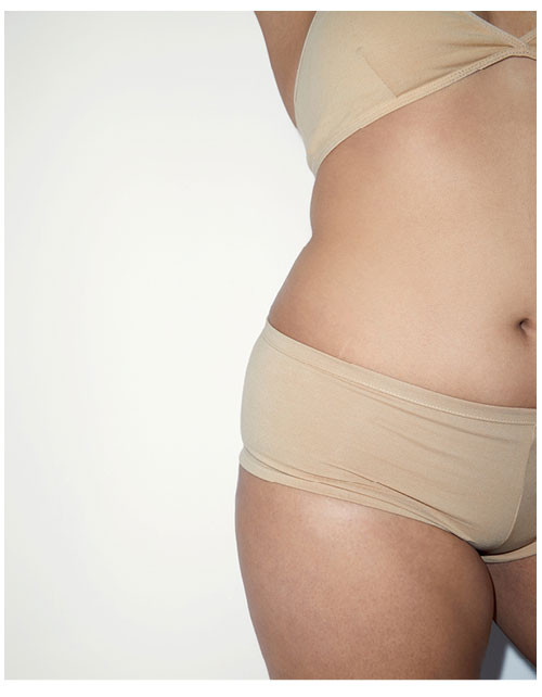 Nude 7 Cotton Spandex Jersey Crossback Bra / Cotton Spandex Jersey Hot Short