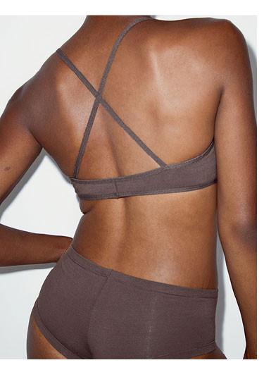 Nude 1 Cotton Spandex Jersey Crossback Bra / Cotton Spandex Jersey Hot Short