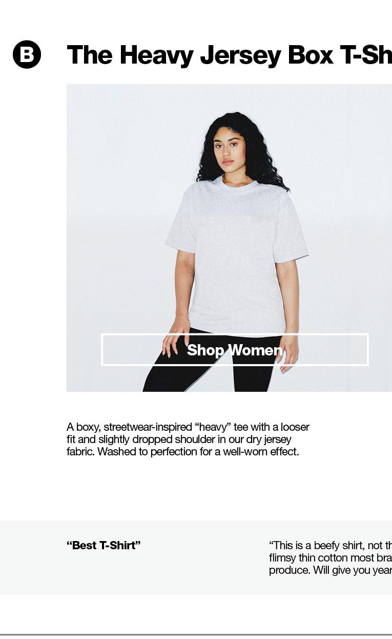 032387b0a6 T-Shirt Guide | American Apparel