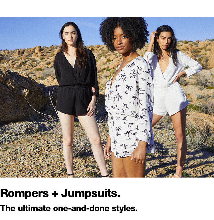 Rompers + Jumpsuits.