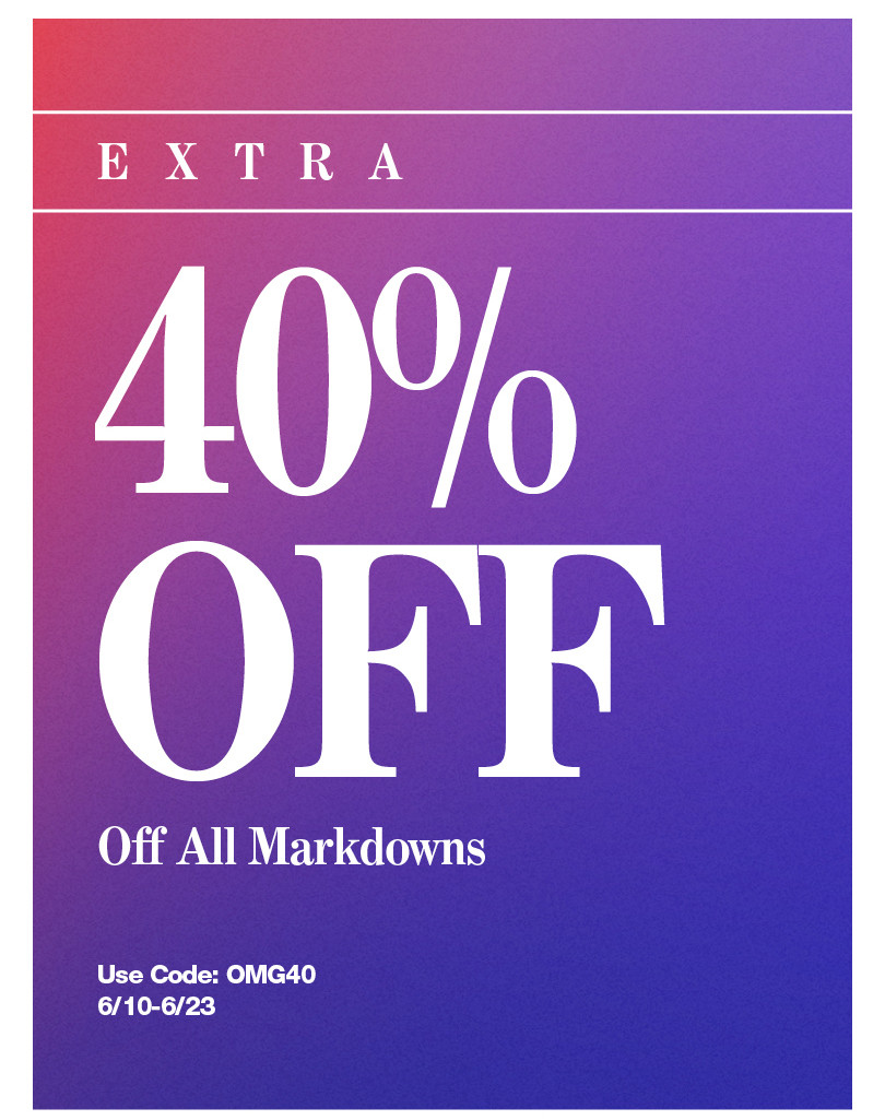 Extra 40% Off.