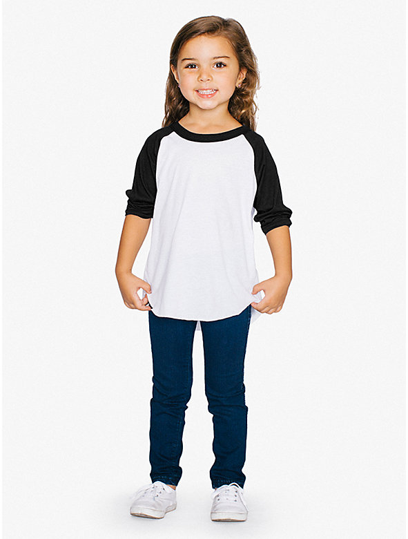 Toddler 50/50 3/4 Sleeve Raglan
