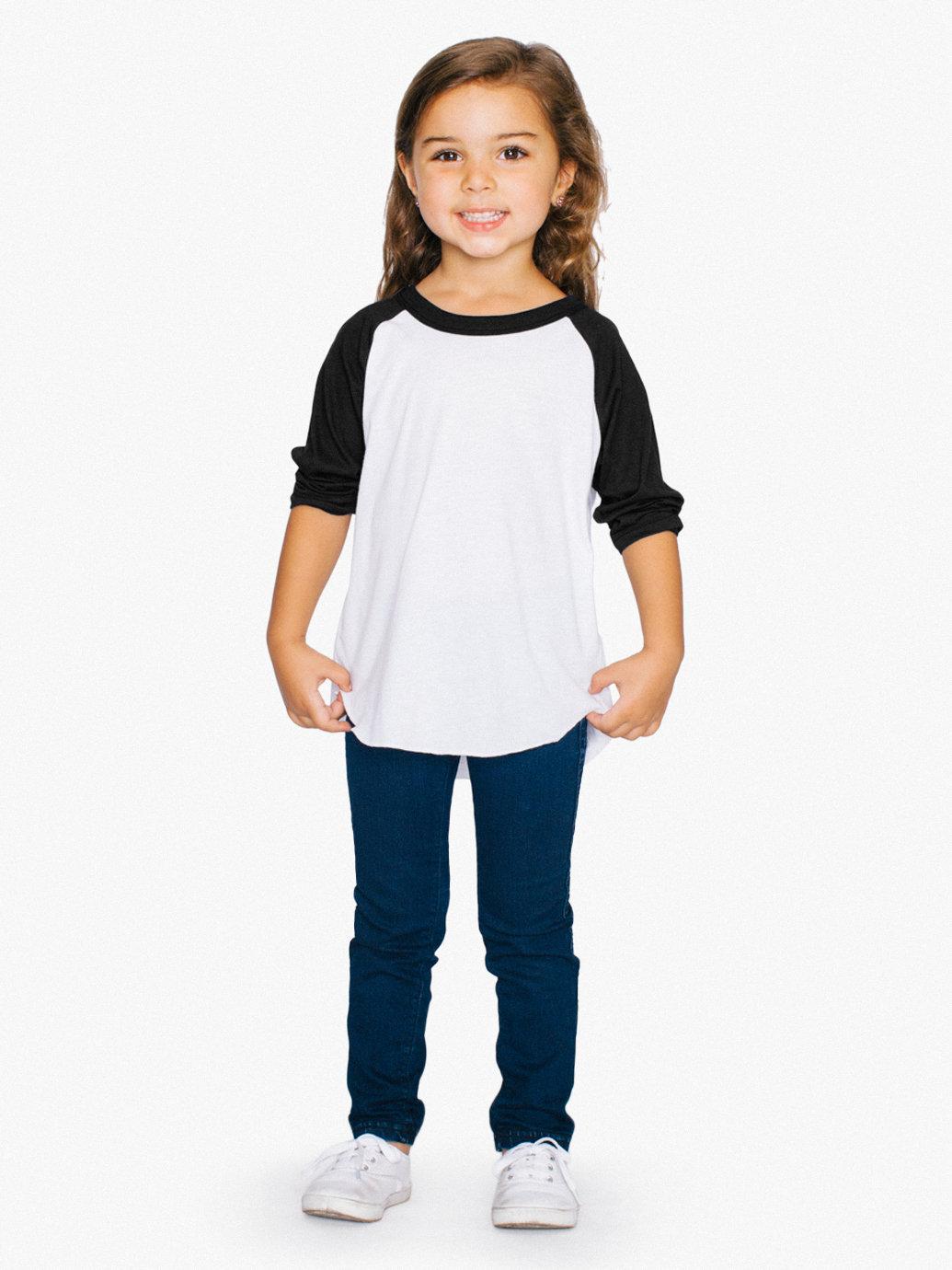 f2b3489a Bella+Canvas Toddler 3/4-Sleeve Baseball T-Shirt