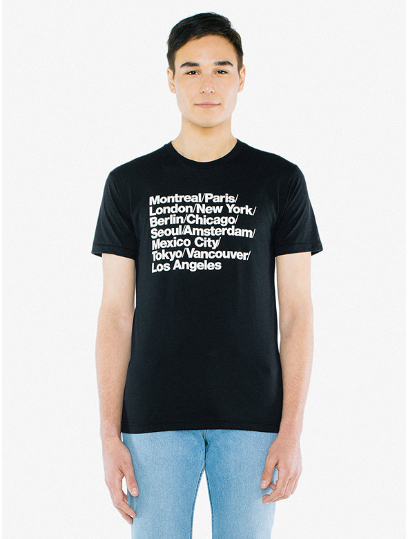 Cities Print 50/50 T-Shirt