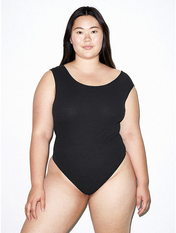 Cotton 2x2 Asymmetrical Bodysuit