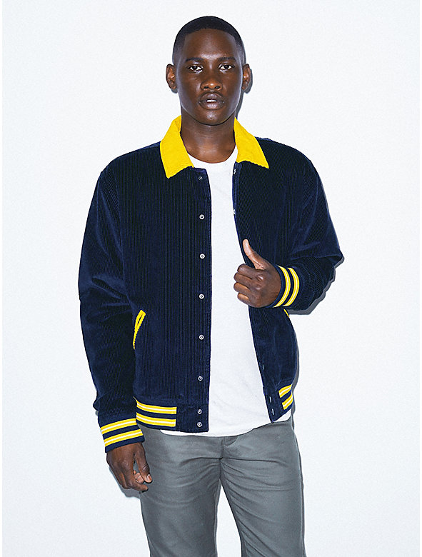 Corduroy Letterman Jacket