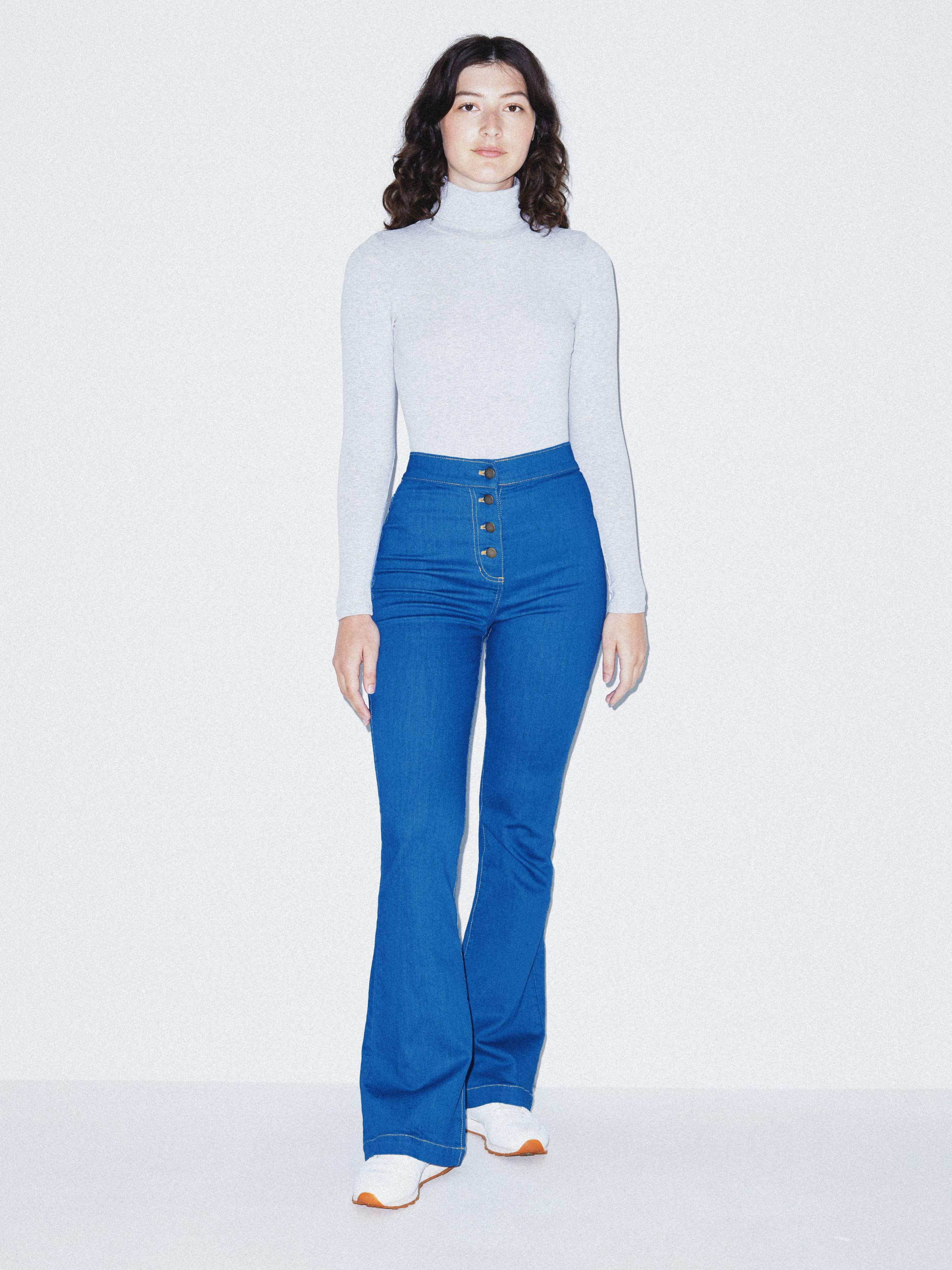 The Button Flare Jean | American Apparel