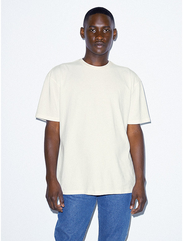 Crisp Cotton Drop Shoulder Tshirt