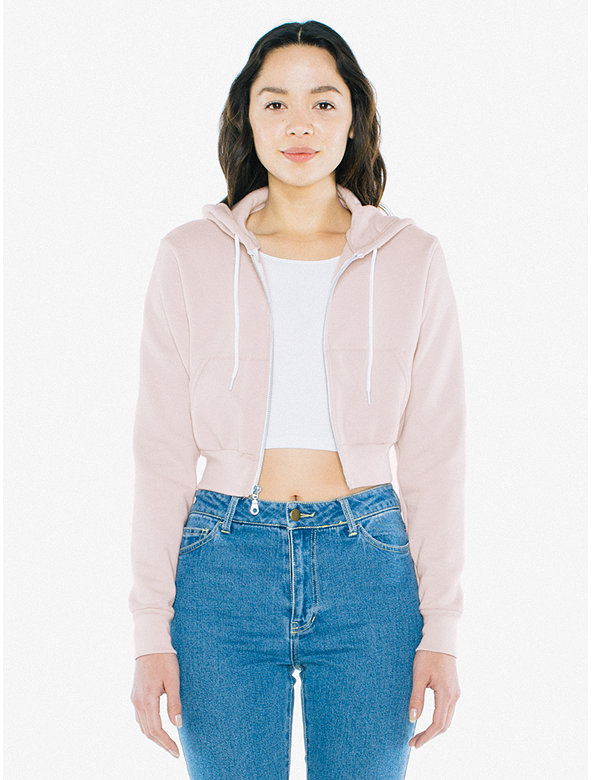 275a758d20 Flex Fleece Cropped Zip Hoodie | American Apparel