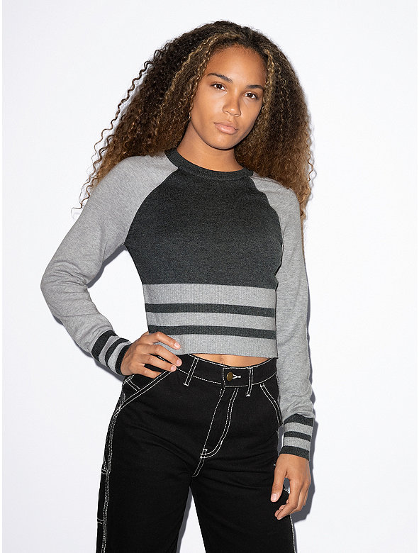 Basic Knit Long Sleeve Cheer Sweater