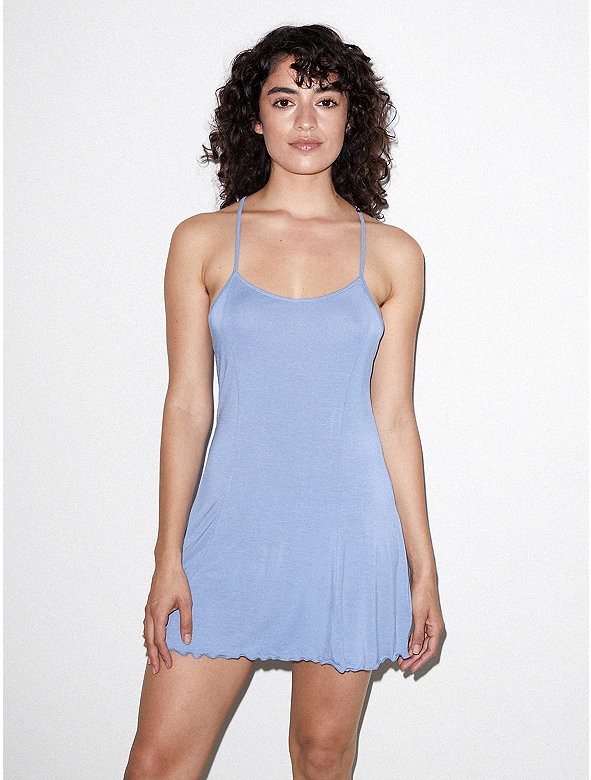 Mix Modal Crossback Slip Dress