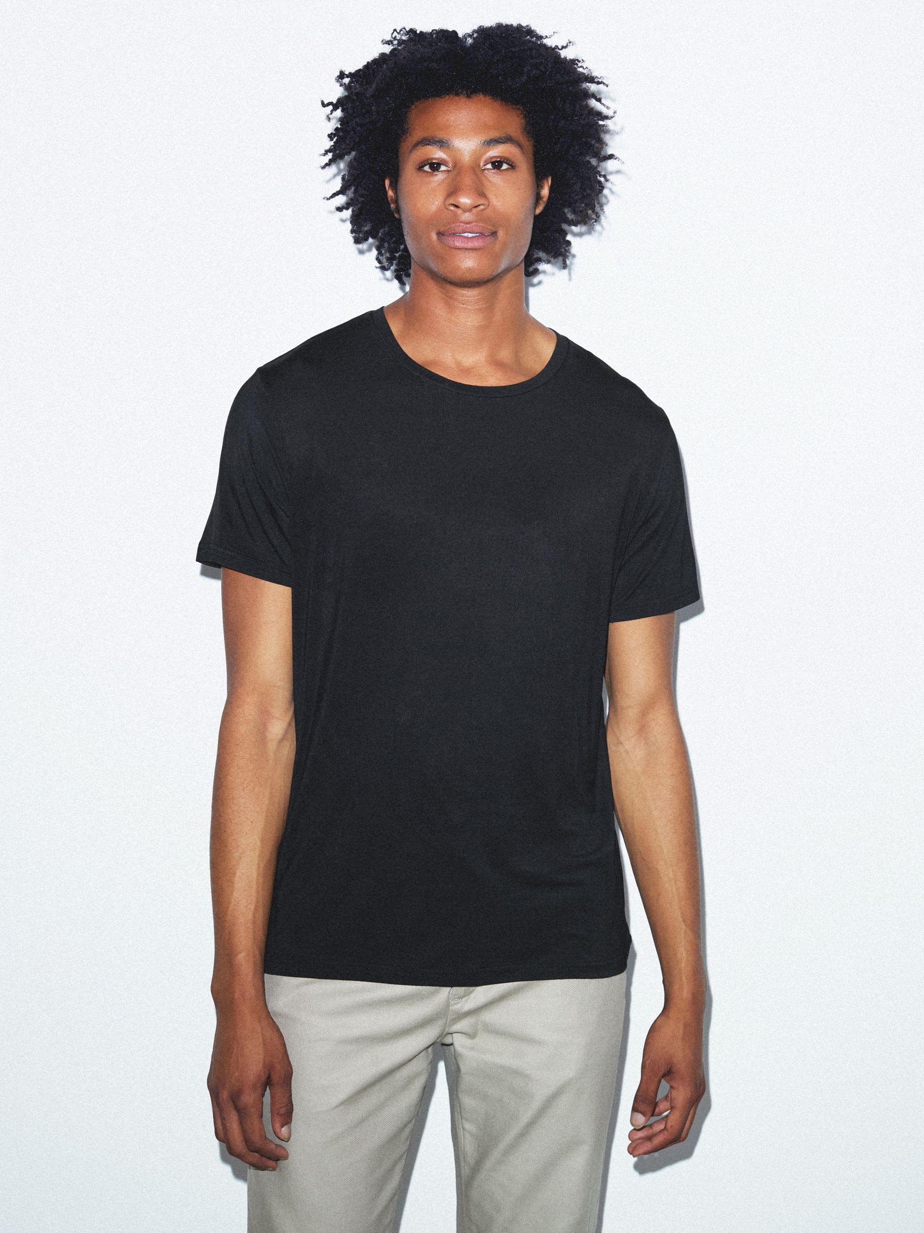 Mix Modal Short Sleeve T-Shirt | American