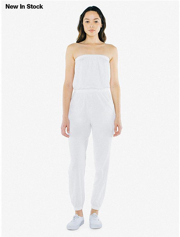 Fine Jersey Strapless Jumpsuit
