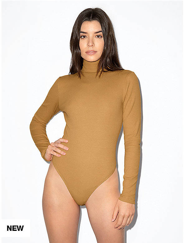 Cotton 2x2 Turtleneck Long Sleeve Bodysuit