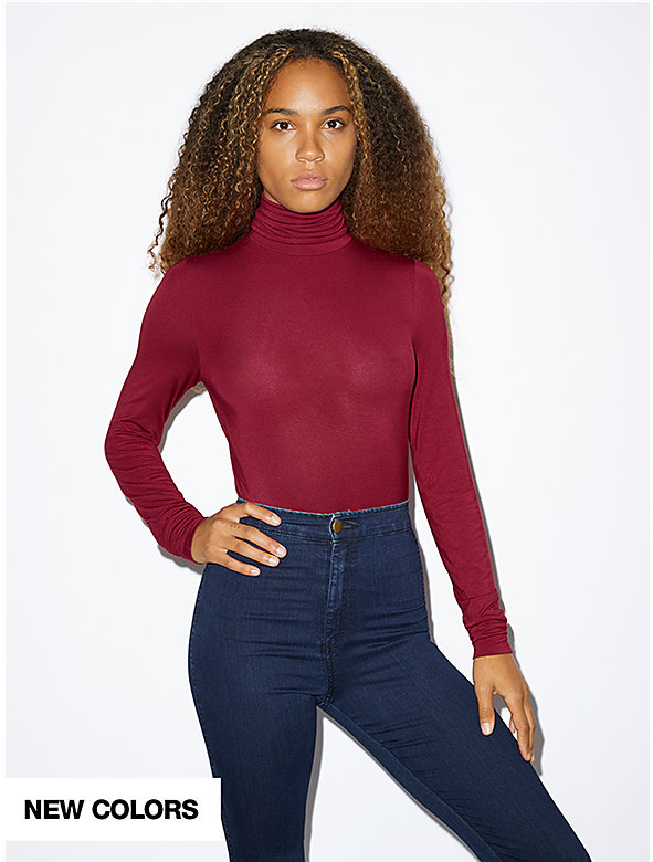 Mix Modal Long Sleeve Turtleneck