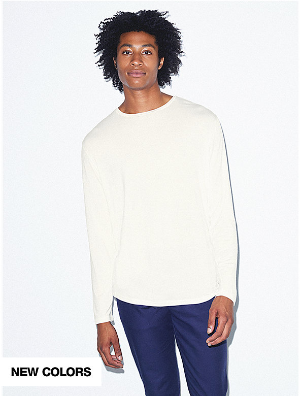 Mix Modal Long Sleeve Crewneck