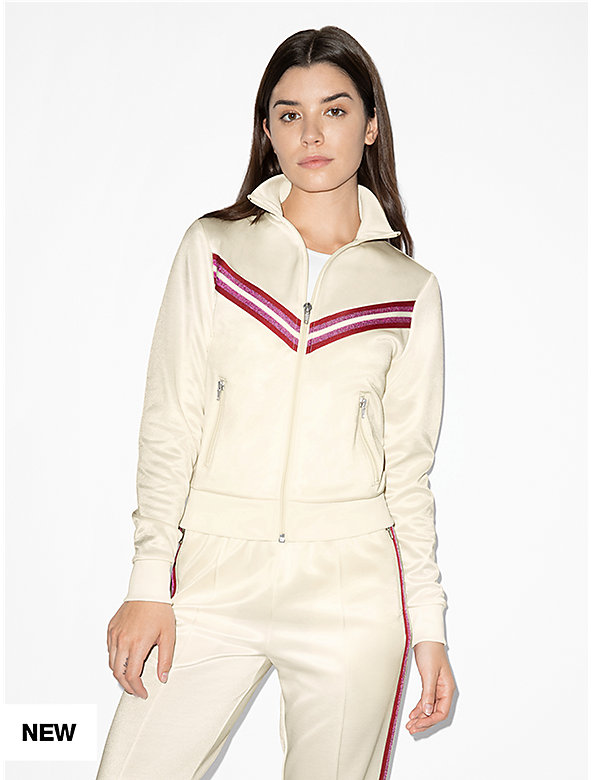 Track Crop Zip Up Jacket
