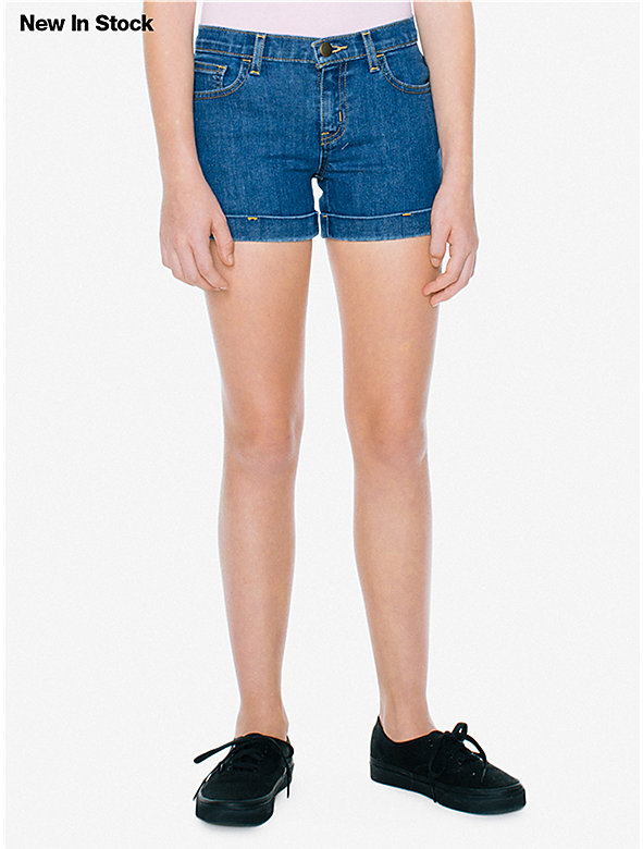 Denim Cuff Short