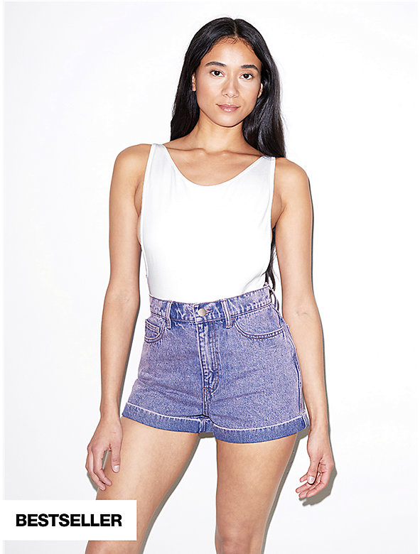2939848ee0d496 Denim High-Waist Cuff Short