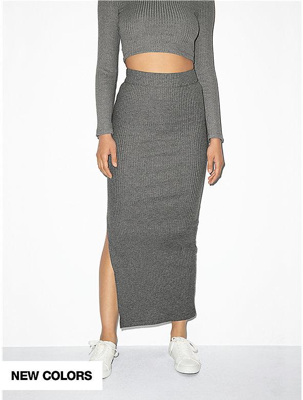 Thick Rib Maxi Skirt