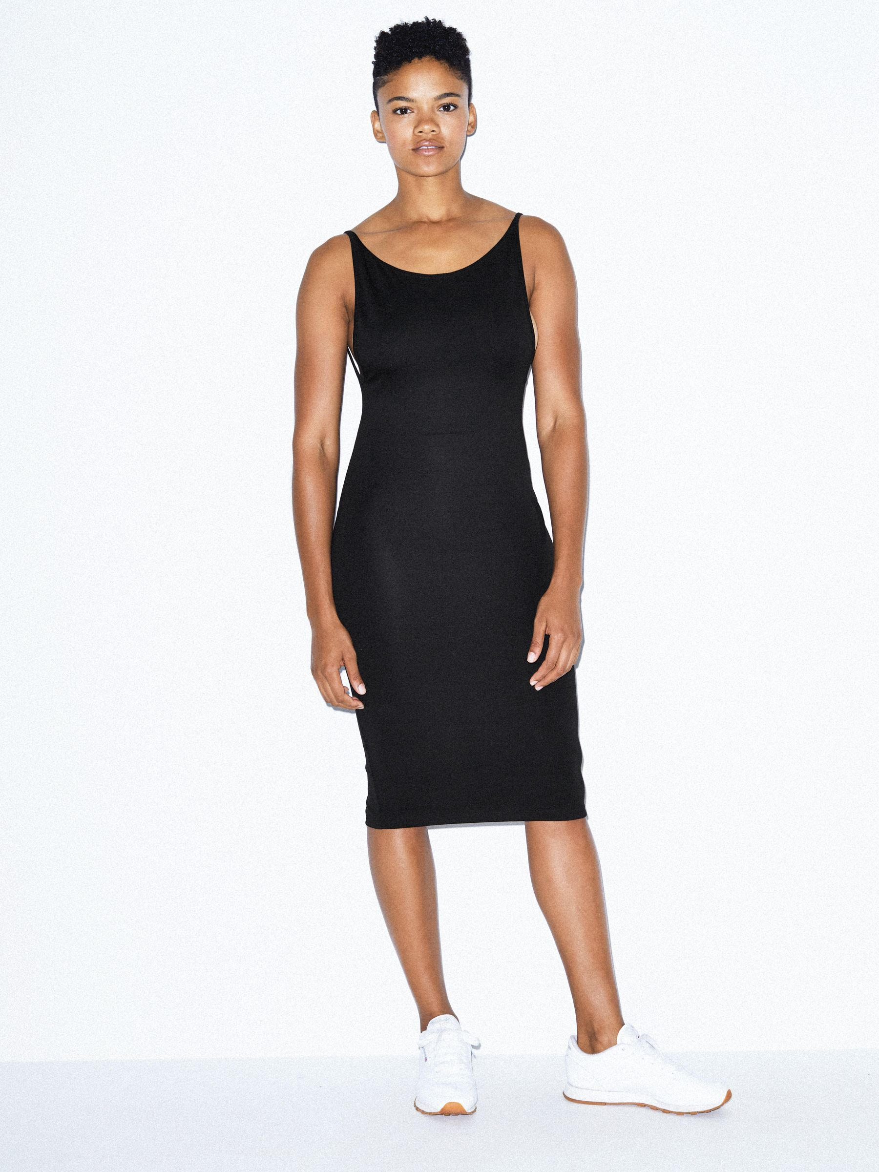Ponte Deep Cut Dress by American Apparel