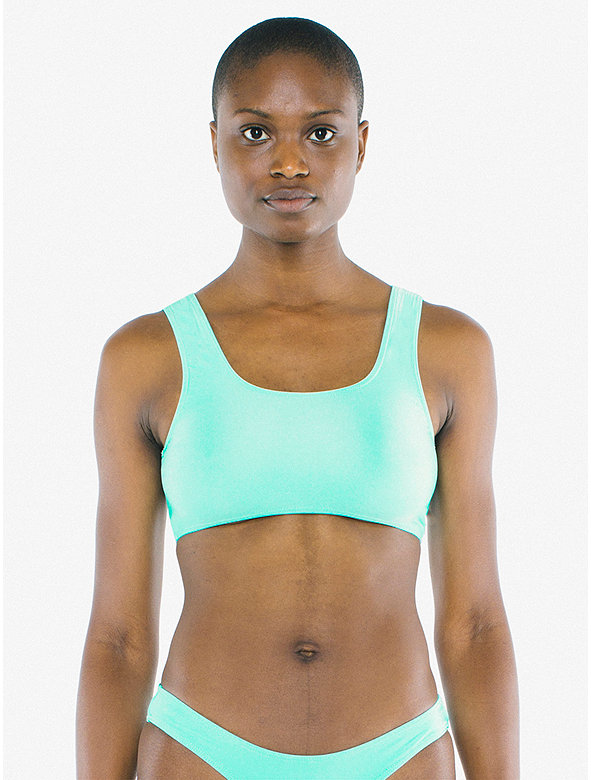 Nylon Tricot Cropped Tank Top