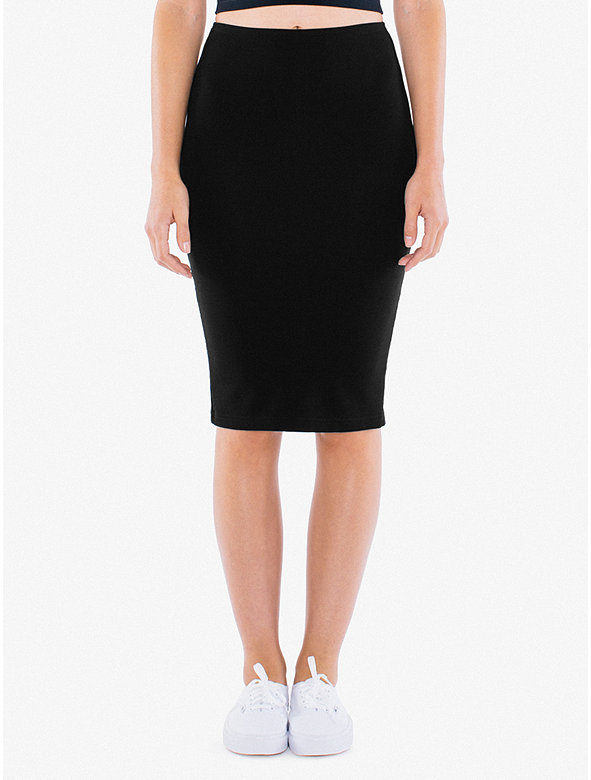 502bdb7d50 Ponte Mid-Length Pencil Skirt | American Apparel