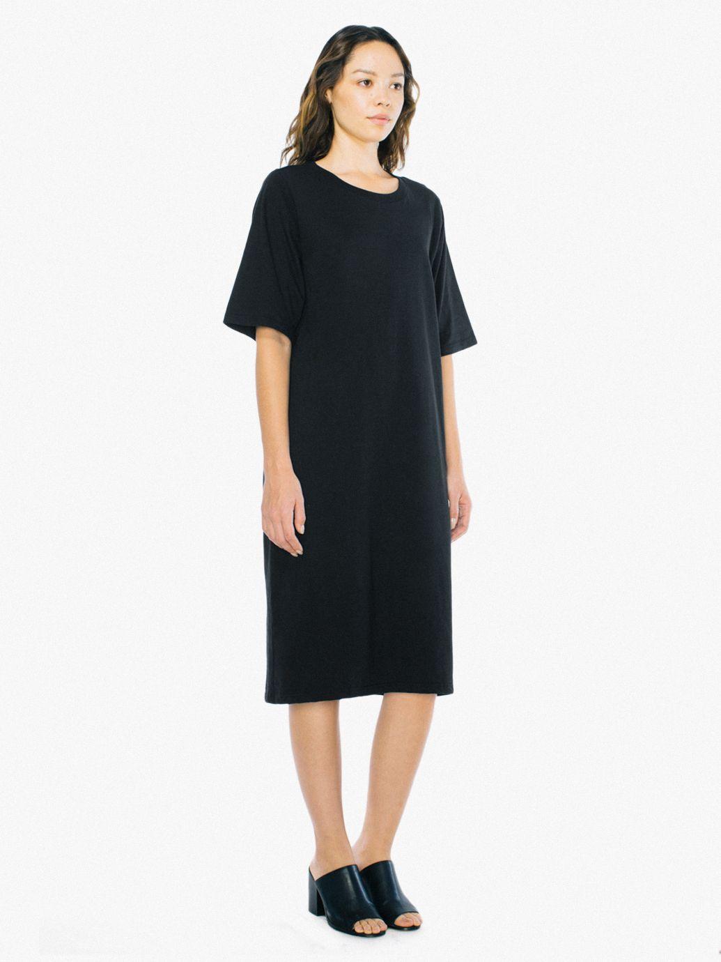 f1636f31f9b Fine Jersey T-Shirt Midi Dress | American Apparel
