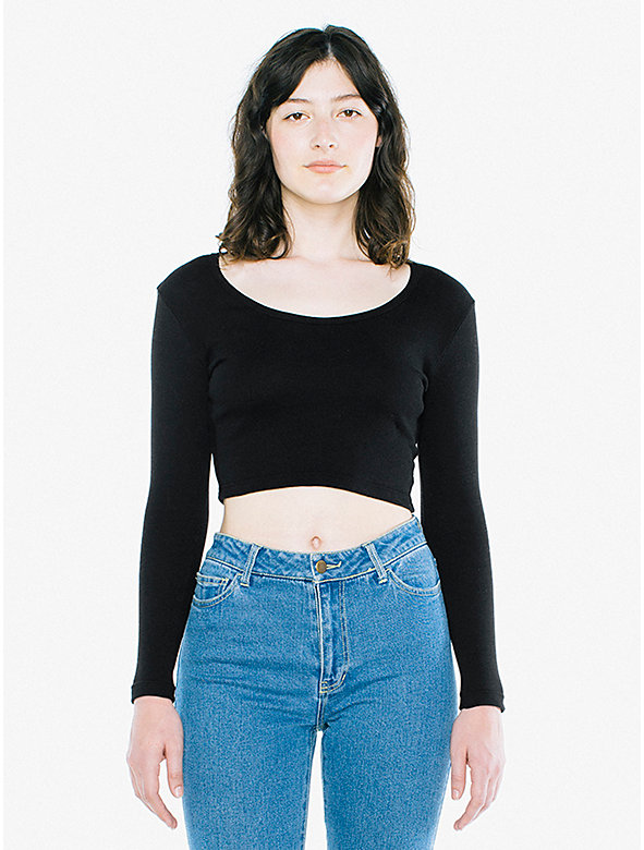 Baby Rib Long Sleeve Crop Top